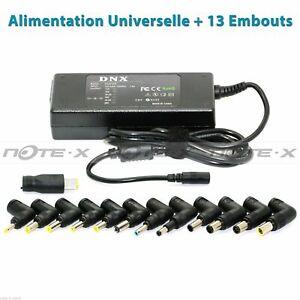 Chargeur d'Alimentation Universel 90W Pour Ordinateur PC Portable + 13 Embouts