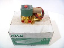 "1/4"" ASCO Red Hat II 8344G070 4-Way 120/60 Solenoid Valve NEW IN BOX"