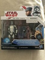 Star Wars Last Jedi Force Link First Order Finn & Captain Phasma 3.75""