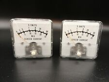 Vintage Meter Gauge - Screen Current MA  (LOT OF 2)