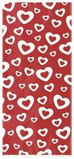 20 HEARTS AFIRE Red Cello Cellophane Loot Gift Party Valentine's Day Sweet Bags