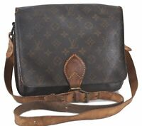 Louis Vuitton Monogram Cartouchiere GM Shoulder Cross Body Bag M51252 LV B8248