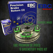 NEW EBC 278mm FRONT BRAKE DISCS AND GREENSTUFF PADS KIT OE QUALITY - PD01KF1055