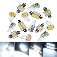 14Pcs White LED Interior Package Kit Fit T10 31mm Map Dome License Plate Lights
