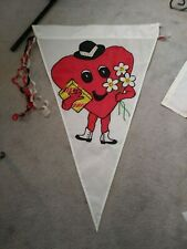 New listing Valentine House Flag Heart Man X0 Flowers Candy 40 X 26 Inches Triangle Shape