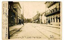 Jersey Shore PA - VIEW DOWN MAIN STREET - RPPC Postcard