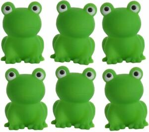 6 Green Plastic Squeaky Frogs for Passover Jewish Seder 10 Plagues Pesach Toy