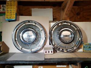 "1969 Chevy Impala Bel Air full WHEEL COVERS pair hubcaps hub cap 14"" NICE 69"
