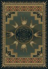 "Green Medallion Native American Circles Door Mat 530-52145 - Aprx 1' 10"" x 3'"