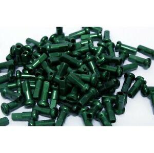 DT Swiss 2 x 12 mm Alloy Aluminium Spoke Nipples Anodised Green (box of 100)