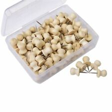 Wood Push Pins,Decorative Thumb Tacks Used on Cork Boards or Maps, Pack of Q