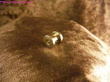 Piercing 24 Karat Gold Tunnel Gewinde Vergoldet Tube Ohr Edelstahl 8,8mm