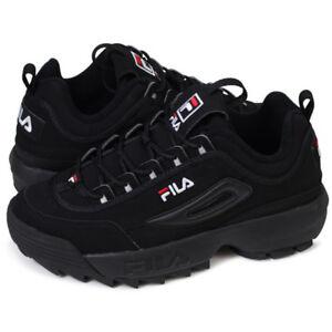 FILA Disruptor II 2 Triple Black Shoes Unisex Size US 4-11 FS1HTA1078X_BBK