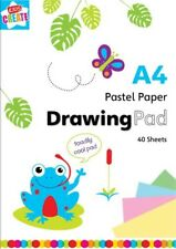 DRAWING PAD A4 PASTEL Paper Book 40 sheets kids gift toys activity art craft