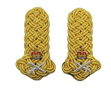 Shoulder Board Gold Wire Lieutenant  General Crown Crossed sword & Baton R1736