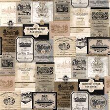 Wine Label - High Quality Vinyl Wallpaper - KK26753