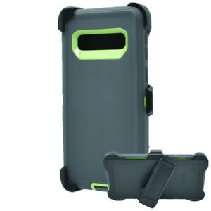 For Samsung Galaxy S10 S10e 10 Plus Defender Hard Case Belt Clip Fits Otterbox