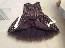 Jessica mcclintock gunne Sax black Polka spotty cocktail RA 50s dress L 17 18