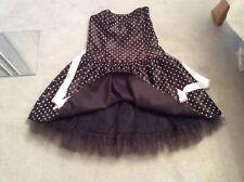 Jessica Mcclintock Gunne Sax Black Polka manchada Cóctel Vestido de 50s ra l 17 18