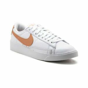 NIKE Blazer Low LE Womens AV9370-100 White Rose Gold Leather Shoes Size 10.5