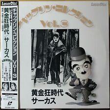 """1987 """"NM 2x Laserdisc"""" Charlie Chaplin Vol.3 Gold Rush Circus SF098-1266 Japan"""