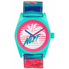 Neff Men's Daily Woven Watch Multi-Color Green Timepiece Wristwatch