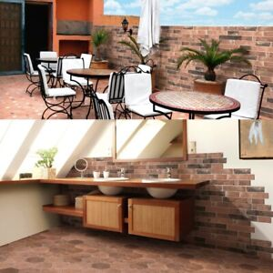 Argile Rame Red Bricks Effect Porcelain Wall & Floor Tiles 16 x 40 cm / Sqm