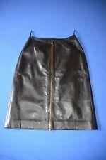 Alaïa jupe cuir noir, vintage, leather skirt black 38
