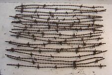 SCUTTS H Barb 1876 Antique Barbed Wire 20 Pieces 18 inches Bobbed Fence Wire N R