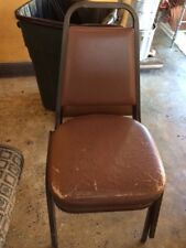 Commercial Grade Chairs: metal frame / back in great shape;cushion needs redone