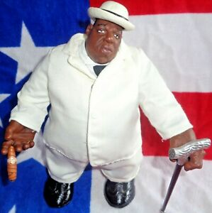 👑The Notorious B.I.G🎤Mezco💿Life After Death White Suit Figure 2006 Bad Boy🎵2