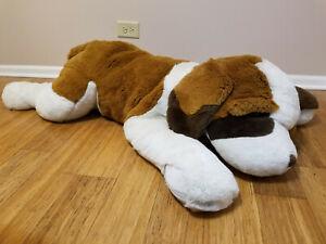 "48"" FAO Schwarz St Bernard Plush Giant Stuffed Animal Dog Jumbo Big Teddy Bear"