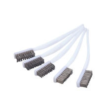 Small White Wire Brush Stainless Steel Cleaning Rust Metal Motorcycle 5 pieces