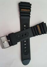 Timex Stealth 100m Indiglo Black Water Resistant Sport 17mm Regular Watch Band