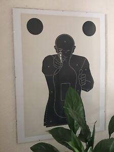 Original French Police/Military Shooting Range Target Poster (frame For Display)