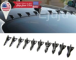 Shark Fin Diffuser Vortex Generator For  Dodge Windshield Roof Spoiler Bumper