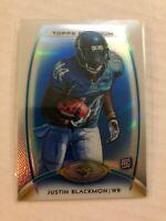Justin Blackmon 2012 Topps Platinum Blue Rookie Refractor #D 49/99 Jaguars SP
