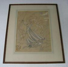 LISTED '39 BERYL DAVIES MOTHER NATURE w ANIMALS DRAWING