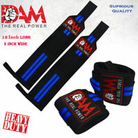 DAM NEW  WEIGHT LIFTING GYM TRAINING WRIST SUPPORT STRAPS WRAPS BODYBUILDING