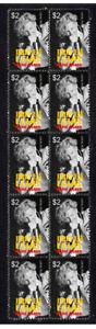 ROCK N ROLL LEGEND JERRY LEE LEWIS STRIP OF 10 MINT VIGNETTE STAMPS 2