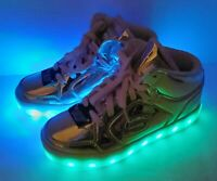 Skechers Energy Lights Rose Gold Light Up Shoes Size 3 Skechers with Charger Kid