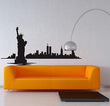 New York City Skyline Sticker Home Wall Decor Art Vinyl DIY Removable Decal