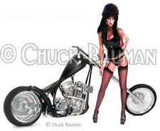Fridge Magnet Elvira Bike Bitch Babe girl macabre horror pin-up girl art Harley