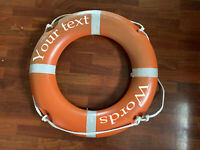 Your Custom text words decal for yacht boys float life rings buoys stickers boat