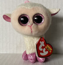 """Ty Beanie Boos Twinkle White Lamb 3.5"""" Clip Plush Sparkle Eyes May 11th MINT Tag"""