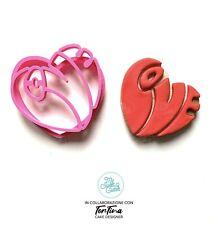 San Valentino Cuore Lettere Love Amore Formine Per Biscotti Cookie Cutter