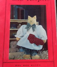 "Vtg 80s Finders Keepers Soft sculpture plush Cat Craft Pattern 12"" clothes prim"