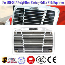 For 05-2017 Freightliner Century Bugscreen Chrome Front Mesh Grill Grille Bumper