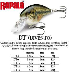 Rapala - DT-6 - Dives To 6 - Balsa Crankbait - Pick Color