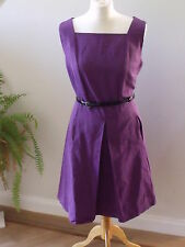 BNWT Designer OSSIE CLARK London Purple Paddington dress size 16-RRP£110